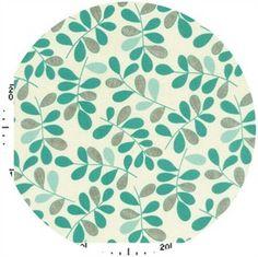 Kokka Japan, Graphic Leaves Aqua