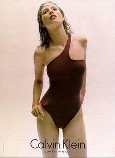 "d37f7a6930 a-state-of-bliss: "" Calvin Klein Swimwear Fall/Wint 1996 - Christy  Turlington """