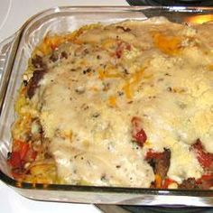 Beef and Fettucine Bake @ allrecipes.co.uk