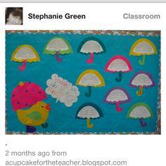 Rainy weather bulletin board idea - Sooo Cute!!