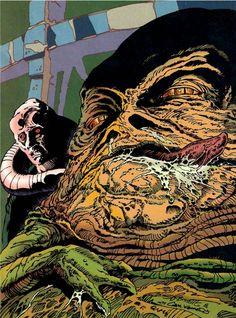 Jabba Desilijic Tiure with Bib Fortuna. Star Wars Comics, Star Wars Art, Star Trek, Ultimate Star Wars, Jabba The Hutt, The Force Is Strong, Stars, Illustration, Outer Space