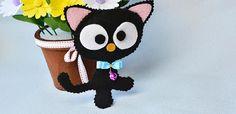 Easy Войлок Craft- Как сделать Cute Войлок Cat для детей