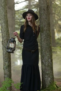 Emory Ruffle Dress Black