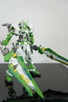 GUNDAM GUY: MG 1/100 Green Frame Mars Sobeck - Custom Build