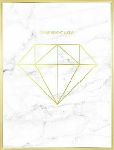 Mooie grafische poster met diamant in goud op marmer Beautiful graphic poster with diamond in gold on marble Trendy Wallpaper, Home Wallpaper, Lock Screen Wallpaper, Wallpapers Tumblr, Cute Wallpapers, Marble Wallpapers, Marble Wallpaper Iphone, Bild Gold, Desenio Posters