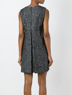 Dolce & Gabbana твидовое платье с цветочной аппликацией