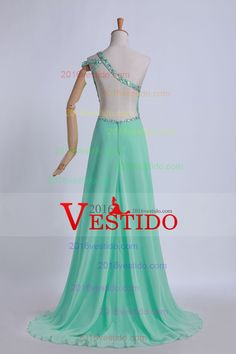2013 vestidos de baile vaina / columna de Split piso frente longitud de un hombro
