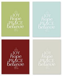 Collection of {FREE} Christmas printables