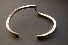 SALE Cuff Bracelet Silver Bracelet   Modern Minimalist by Vrendon, $49.00
