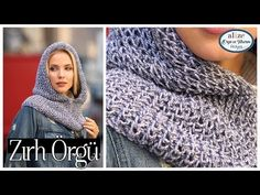 Making a Hooded Neck Collar with Armor Technique - Making Armor Pattern Hooded Cowl - motif - örgü - Cowl Scarf, Knit Cowl, Knitting Videos, Crochet Videos, Knitting Designs, Knitting Patterns, Crochet Scarves, Crochet Hats, Armor Boots