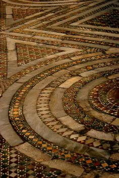 Cathedral floor tiles, Italy