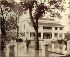 Suasana Hotel di Pavilon Dibya Puri pada tahun 1875. Semarang.