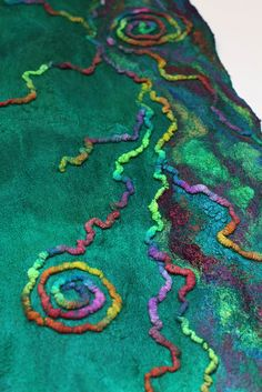 Nuno Felted Scarf Custom by FeltedPleasure, via Flickr