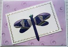 Dragonfly made with pearlescent papers