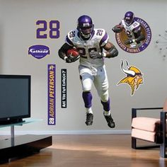 Minnesota Vikings  28 Adrian Peterson Player Fathead 308450128