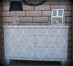 DIY painted dresser Furniture Projects, Furniture Making, Furniture Makeover, Diy Furniture, Home Projects, Painted Furniture, Apartment Projects, Furniture Refinishing, Repurposed Furniture