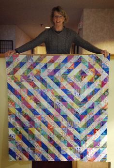 ...made entirely of half square triangles using a light fabric and a dark fabric