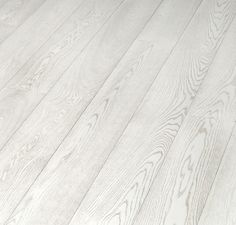 White hardwood floors -- bleached laminate flooring from Tarkett. I don't usually like laminate, but these are nice! White Wood Laminate Flooring, White Hardwood Floors, White Washed Floors, Vinyl Flooring Kitchen, Hardwood Floor Colors, Plywood Floors, Plywood Furniture, Furniture Design, White Flooring