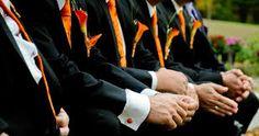 Orange Ties for The Groomsmen!
