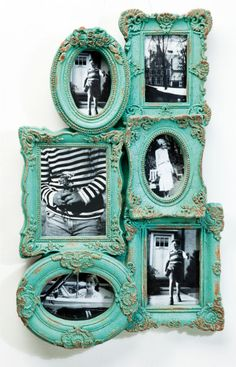 Decoration :: Frames :: Frame Baroque Chic Multiple 6 Turquoise