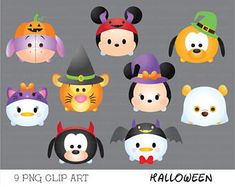 supercutegraphics on Etsy Disney Halloween, Kawaii Halloween, Moldes Halloween, Halloween Clipart, Cute Halloween, Diy And Crafts, Crafts For Kids, Paper Crafts, Disney Crafts