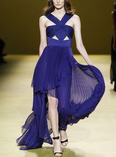 J. Mendel NY fashion week // Ultraviolet night gown dress