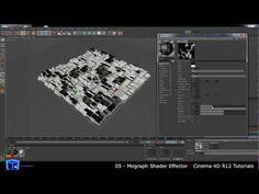 Cinema 4D Tutorial - 05 - Mograph Shader Effector