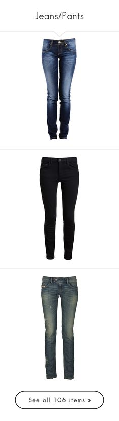 """""""Jeans/Pants"""" by blaizeg ❤ liked on Polyvore featuring jeans, pants, bottoms, dark blue jeans, faded jeans, denim jeans, faded blue jeans, blue jeans, calças and proenza schouler"""