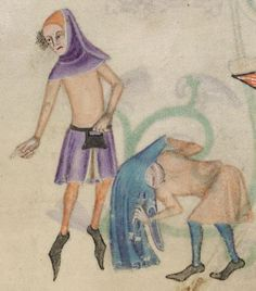 Detail from The Luttrell Psalter, British Library Add MS 42130 (medieval manuscript,1325-1340), f198r