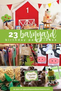 23 Barnyard Birthday Party ideas - great party idea for little boys or girls.