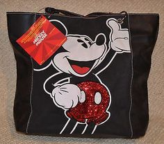 DISNEY MICKEY MOUSE Tote, Bag ,Purse  NWT   Red Sequins on Mickey's Shorts