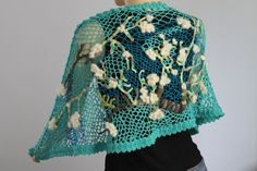 Almond Blossom - Wearable Fiber Art - OOAK. $490.00, via Etsy.