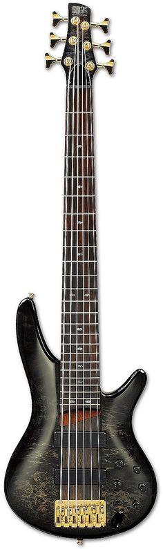 Ibanez SR806 6-String Bass Guitar | Transparent Gray Burst