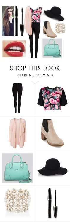 """Luv ❤️"" by maya-imane26 ❤ liked on Polyvore featuring Dr. Denim, Boohoo, Vero Moda, MTNG Originals, Rebecca Minkoff, Warehouse, Forever New and Mary Kay"