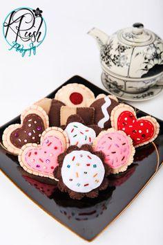 Assorted 1 Dozen Felt Cookies  Eco Friendly by buttercreamforest, $24.00
