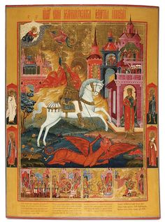 Lot: 94:EXCEPTIONAL LARGE RUSSIAN ICON ST. GEORGE, PALEKH, Lot Number: 0094, Starting Bid: $6,000, Auctioneer: Jackson's Auction, Auction: Russian, Asian, European & American Fine Art, Date: May 22nd, 2012 CEST