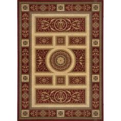 Home Dynamix Empire Red 5 ft. 2 in. x 7 ft. 6 in. Area Rug-2-ER8307-200 at The Home Depot  sale $224
