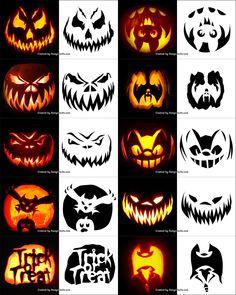 132 Best Pumpkin Carving Templates Images Halloween Crafts