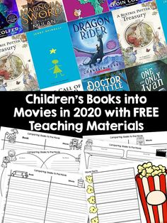Book lovers and film goers are in for a real treat. Several classic children's books are hitting the big screen in See which ones here. Reading Centers, Reading Workshop, Books For Autistic Children, Children's Books, Books To Read, Books Turned Into Movies, Reading Anchor Charts, Early Reading, Mentor Texts