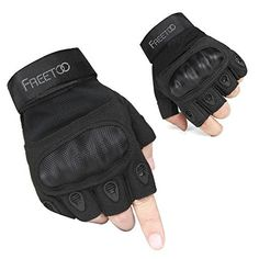FREETOO® Mens Tactical Gloves Hard Knuckle Full Finger Protective Military Gear for Combat Training Fitness Outdoor Gloves Biking Shooting Motorcycle Black L - http://www.exercisejoy.com/freetoo-mens-tactical-gloves-hard-knuckle-full-finger-protective-military-gear-for-combat-training-fitness-outdoor-gloves-biking-shooting-motorcycle-black-l/fitness/