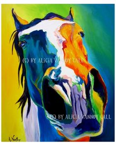Colorful Horse Painting Print 8x10 by Alicia VanNoy Call. $12.00, via Etsy.