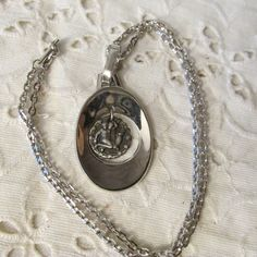 """Vintage Zodiac AQUARIUS 18"""" NECKLACE Articulating Pendant Silver Plated Patent Pending Mark Collectible Unisex 1960's by GrammiesCupboard on Etsy"""