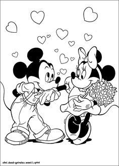 minnie mouse picture to color | Mickey And Minnie ...