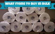 What Items to Buy in Bulk? #frugal #tips