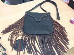 leather tassel bag by MaxiMaryDesigns on Etsy