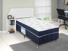 Cama Box Solteiro Ortobom Conjugado 43cm de Altura - Physical Blue com as melhores condições você encontra no Magazine Ubiratancosta. Confira!