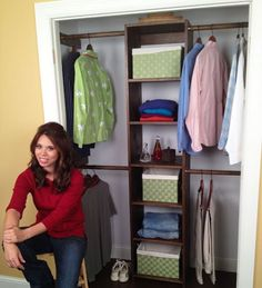 Build a closet organizer with one sheet of plywood! Free Plans at Ana-White.com