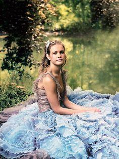 """Natalia Vodianova; """"Alice in Wonderland"""" by Annie Leibovitz for Vogue December 2003"""