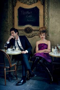 RUSSIAN SUPERMODEL NATALIA VODIANOVA AND ACTOR ADRIEN BRODY FOR US VOGUE JULY 2015 EDITION