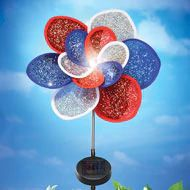 Solar Patriotic Floral Wind Spinner Stake - 39150 Patriotic Party, Patriotic Decorations, Collections Catalog, 4th Of July Celebration, Wind Spinners, American Pride, Solar Lights, Best Part Of Me, Bunting